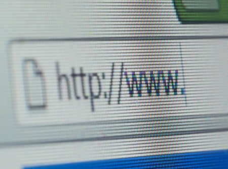 Internet browser close up photo