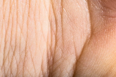 Close up human skin. Macro epidermis texture photo