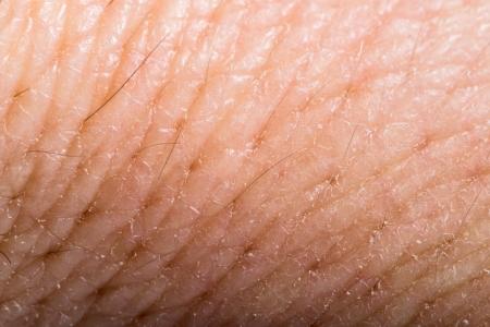 Close up human skin. Macro epidermis texture