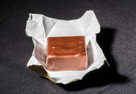 Chocolate and its packaging photo