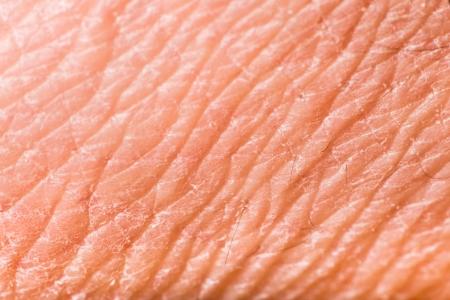 Textuur van de menselijke huid. Extreme close-up macro-opname