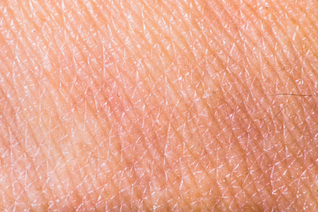 Texture di pelle umana. Estremo close up colpo di macro