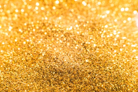Gold treasures shiny background photo