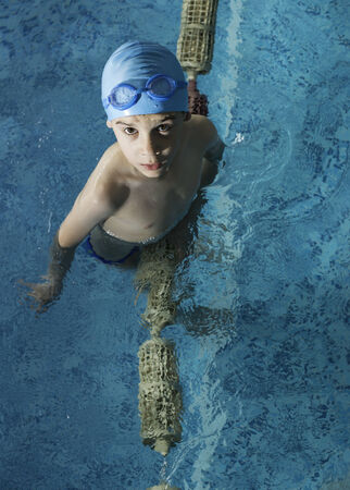 Little boy in swimming pool Stock Photo - 28224531