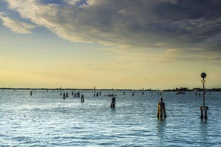 waterbus: Sea route to Venice. Landscape