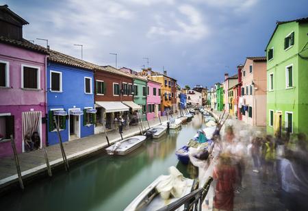 Multicolored houses in Burano, Venice photo