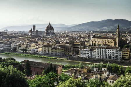 Panoramic view of Florence. Day light
