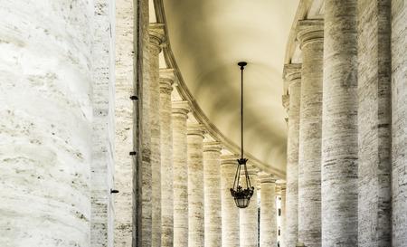 St. Peter's Squar, Vatican, Rome. Architectural details