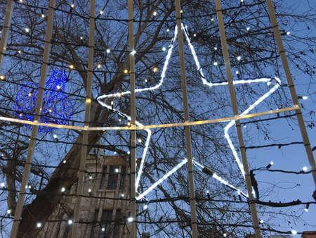 shining star: Christmas lights and shining star