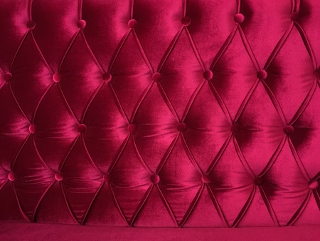 fabric: Upholstered Fabric red pattern Stock Photo