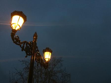 streetlight: Streetlight at night. Ornaments Stock Photo