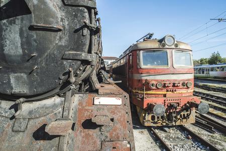 steam locomotives: Details of an old steam locomotives. Bulgaria