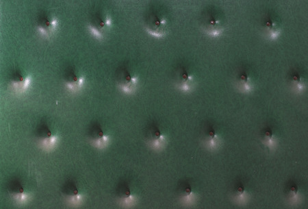 upholstered: Upholstered green leather wall Stock Photo