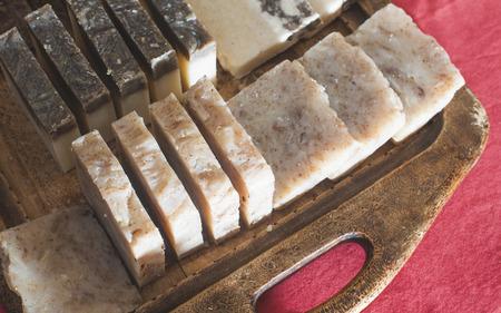 handmade soap: Handmade soap with herbs.