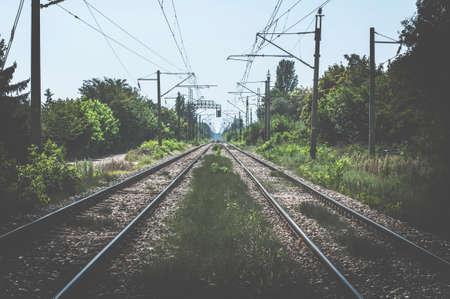 railroads: Two Railroads and power poles
