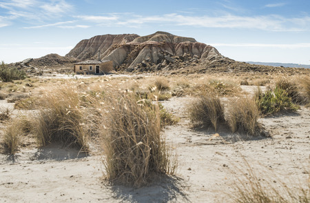 Lonely house in the wild west Stock Photo