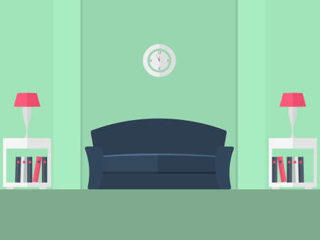 livingroom: Interior of a living room. Modern flat design illustration.