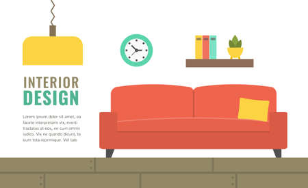 Banner template for website, shops and sales, design studio. Vector illustration.
