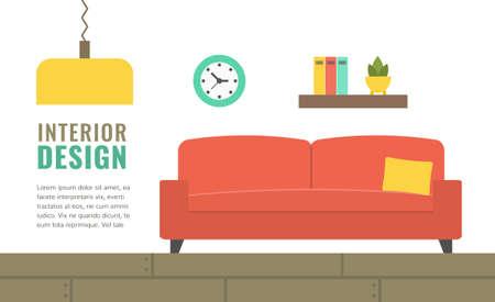 Banner template for website, shops and sales, design studio. Vector illustration.