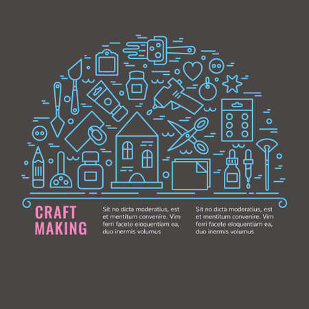 Craft Supplies Poster. Template For Flyer And Banner. Poster ...