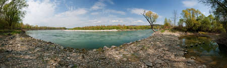 Panorama of River Drava Stock Photo - 6902450
