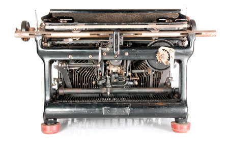Old rusty typewriter from the back Stock Photo - 6902555
