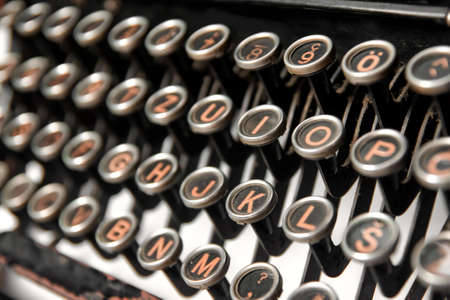 Keys of an old rusty typewriter Stock Photo - 6902481
