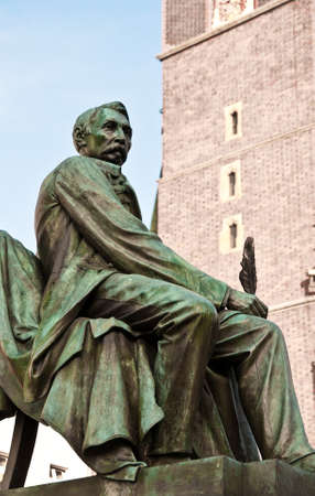 aleksander: Statue of Polish poet, playwright and author Aleksander Fredro next to Town Hall in Wroclaw, Poland