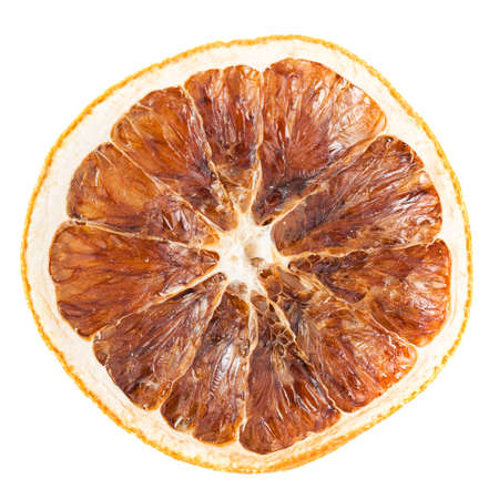 Slice of dried orange isolated on white background  Stock Photo - 19685458