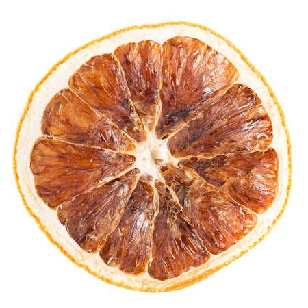 Slice of dried orange isolated on white background Stock Photo - 19685458
