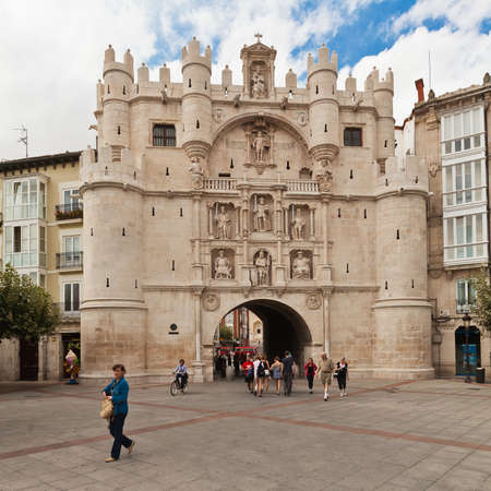 remodelled: Santa Maria Arch in Burgos, Spain. In the 16th century it was remodelled by Juan de Vallejo and Francisco de Colonia, and became most noble entrance to city. Editorial