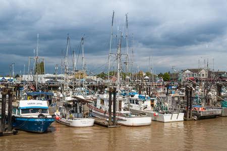 fishing fleet: Fishing fleet on Fraser river in Steveston, Canada. Steveston