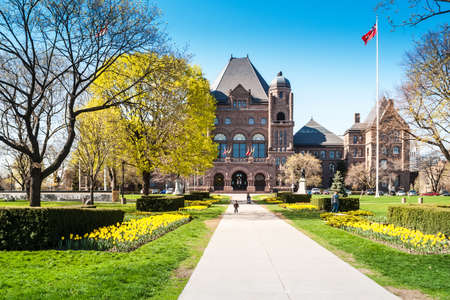 Ontario Legislative Building in Toronto. It was designed by architect Richard A. Waite, construction begun in 1886 and was opened in 1893. Editorial