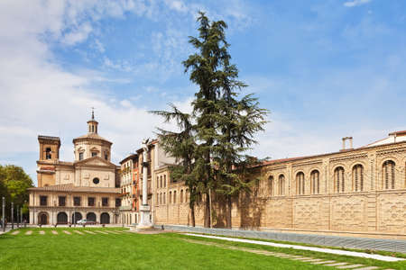 The church of San Lorenzo in the Old Town of the city of Pamplona, Navarre, Spain. It houses the San Fermin Chapel.