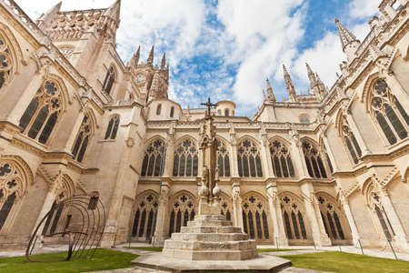 Inner court of the cathedral in Burgos, Spain
