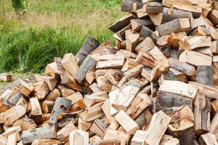 Pile of chopped wood Stock Photo - 20298824