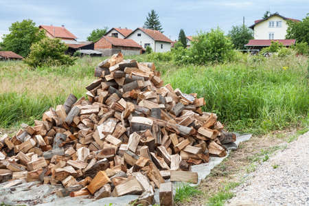 Pile of chopped wood  Stock Photo - 20295508
