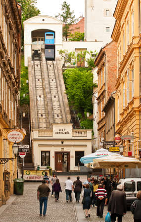 shortest: The Zagreb funicular is one of many tourist attractions in Zagreb, Croatia. It is one of the shortest funiculars in the world; the length of the track is 66 meters.
