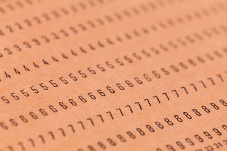 punched: Vintage unused computer punch cards used for programming and data entry in the sixties and seventies