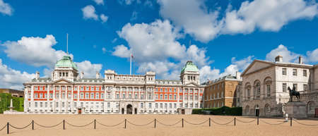 commonwealth: Panorama of Old Admiralty palace from the Horse Guards Parade in London on a cloudy day