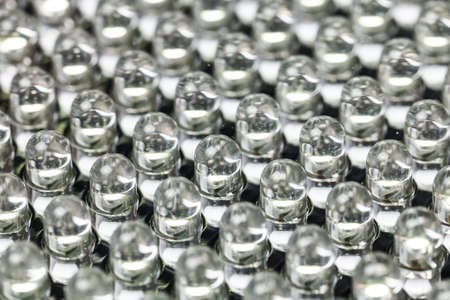 보호 유리를 통해 촬영 발광 다이오드, 투명 LED 패널 스톡 콘텐츠