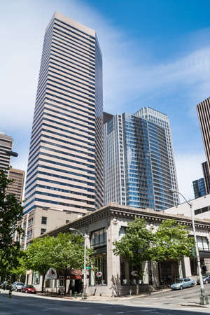 Wells Fargo Center on May 19, 2007 in Seattle, Washington Completed in 1983 as First Interstate Center, it