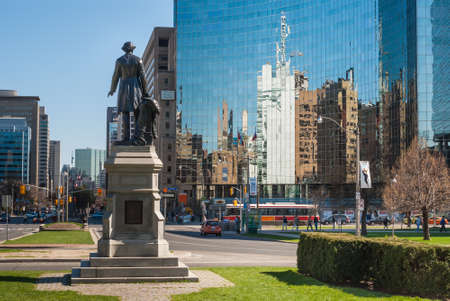 macdonald: Statue of Sir John A  Macdonald in southern part of Queen s Park in Toronto, CA Editorial