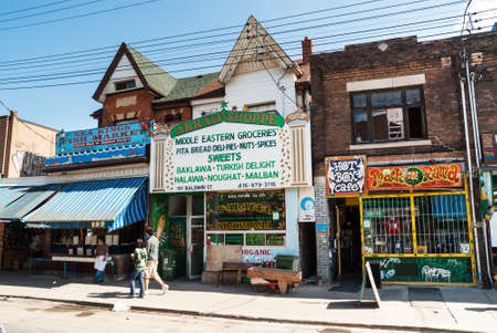 proclaimed: Houses and shops in Kensington on May 2, 2007 in Toronto  Kensington Market is a  multicultural neighbourhood in the city and was  proclaimed a National Historic Site of Canada in November 2006