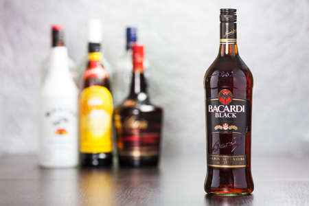 bacardi: Bacardi Black is rum made by the Bacardi Company  Editorial