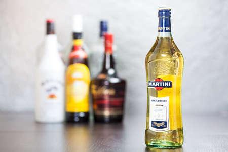verm�: Botella de Martini, una marca de vermouth italiano