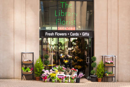 The Library Florist, flower shop on the side of Vancouver Public Library  It is one of the premier flower shops in Vancouver, located on the  Library Square