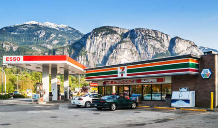 7-Eleven store and Esso gas station on Cleveland Avenue  7-Eleven largest operator, franchisor and licensor of convenience stores in the world with more than 50,000 outlets  Editorial