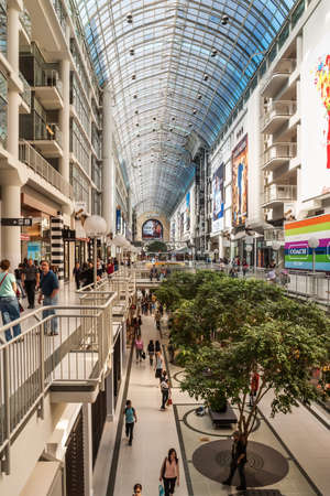 TORONTO, CANADA - MAY 10, 2007: Toronto Eaton Center is shopping centre and office complex in downtown Toronto that provides store directories, special events, leasing information and tenant services.