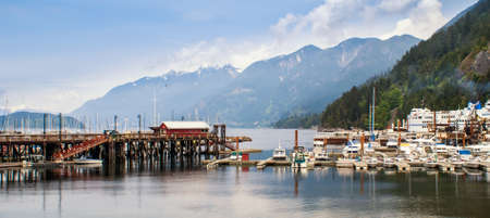 WEST VANCOUVER, CANADA - MAY 23, 2007: Marina in Horseshoe Bay in West Vancouver. Its home to 3rd largest British Columbia ferry terminal which provides vehicle ferry links to Vancouver Island, the Sunshine Coast and Bowen Island.